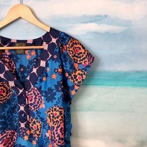 Anthropologie Fei Aritza Flutter Sleeve Floral Top